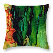 Emerald Waves  Throw Pillow
