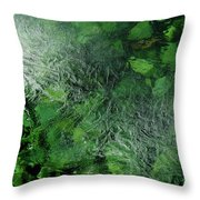 Emeralds Under Ice Throw Pillow