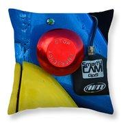 Emergency Stop Throw Pillow