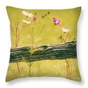 Emerging Beauties - Y11a Throw Pillow