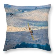 Emerging From The Valley Of Speed Throw Pillow