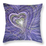 Emerging Heart Throw Pillow