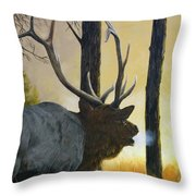 Emerging Monarch - Elk Throw Pillow