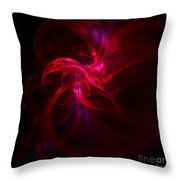 Emerging Red Throw Pillow