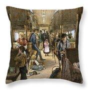 Emigrant Coach Car, 1886 Throw Pillow