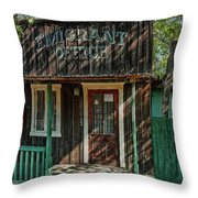Emigrant Office Throw Pillow