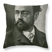 Emile Zola, French Author Throw Pillow by Photo Researchers