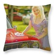 Emily #2 Royal Holden Throw Pillow