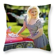 Emily #3 Royal Holden Throw Pillow
