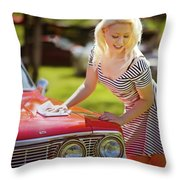 Emily #4 Royal Holden Throw Pillow