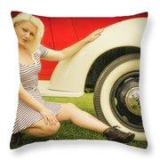 Emily #5 Royal Holden Throw Pillow
