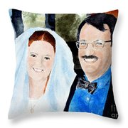 Emily And Jason Throw Pillow