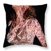 Emily Throw Pillow by Arla Patch