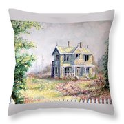 Emily Carr's Birthplace Throw Pillow