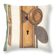 Emily's Door Knob Throw Pillow