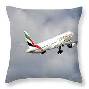 Emirates Boeing 777-36n 5 Throw Pillow