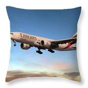 Emirates Boeing 777f A6-efm Throw Pillow