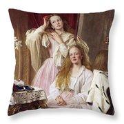 Emma And Federica Bankes Of Soughton Hall  Throw Pillow