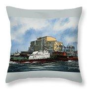Emma Foss Barge Assist Throw Pillow