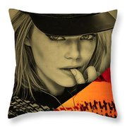 Emma Stone Collection Throw Pillow