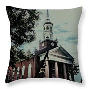 Emmanuel Bell Tower Throw Pillow