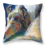 Emmies Beauty Sleep Throw Pillow by Kimberly Santini