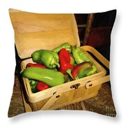 Emmy's Peppers Throw Pillow