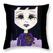 Emo Girl IIi Throw Pillow