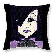 Emo Girl Iv Throw Pillow
