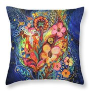 Emotion In Blue Throw Pillow