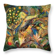 Emotion In Green Throw Pillow