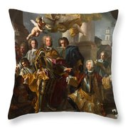 Emperor Charles Vi And Gundacker, Count Althann Throw Pillow