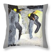 Emperors Of The Antarctic Throw Pillow