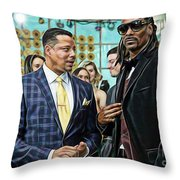Empire Lucious And Snoop Dog Throw Pillow