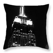 Empire State B W  Throw Pillow