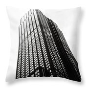 Empire State Building 1950s Bw Throw Pillow