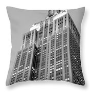 Empire State Building B W Throw Pillow