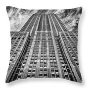 Empire State Building Black And White Throw Pillow