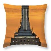 Empire State Building Esb Broadcasting Nyc Throw Pillow