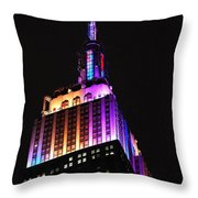 Empire State Building In Pastel Color Throw Pillow