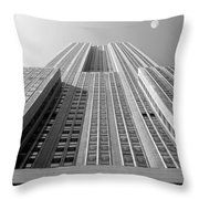 Empire State Building Throw Pillow by Mike McGlothlen