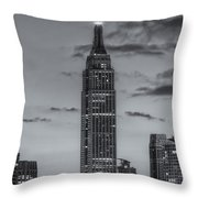 Empire State Building Morning Twilight Iv Throw Pillow