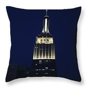Empire State Building New York City Throw Pillow