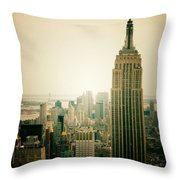 Empire State Building New York Cityscape Throw Pillow