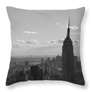Empire State Building Panorama Throw Pillow