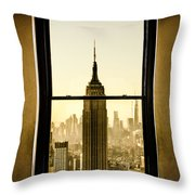 Empire State Building View Throw Pillow