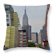 Empire State Empty Street Throw Pillow
