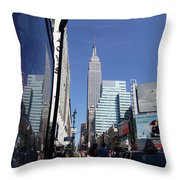 Empire State Of Mind In The Late Springtime Throw Pillow