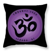 Empower Yoga- Purple Throw Pillow
