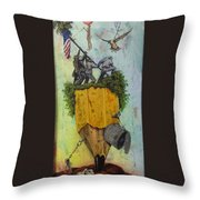 Emptiness Flesh And Bones Throw Pillow